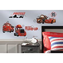 RoomMates Cars - Friends to the Finish Peel and Stick Wall Decals
