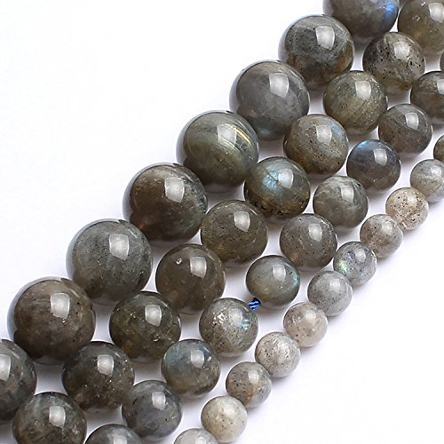 - Love Beads Natural Labradorite Beads 8 mm Round Loose Gemstone