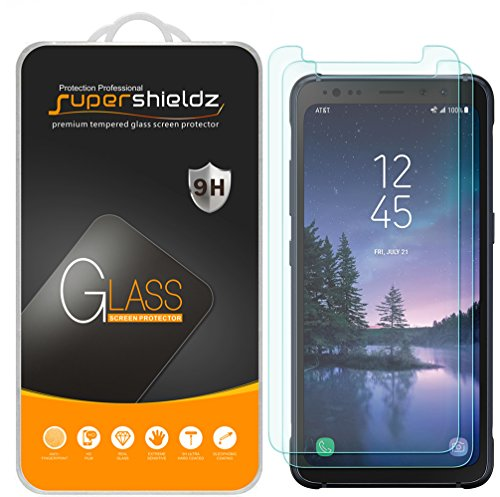 Supershieldz [2-Pack] for Samsung (Galaxy S8 Active) [Not Fit for Galaxy S8 / S8 Plus Model] Tempered Glass Screen Protector, Anti-Scratch, Anti-Fingerprint, Bubble Free, Lifetime Replacement