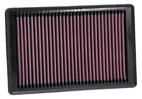 K&N 33-2445 High Performance Replacement Air Filter for 2010 Jaguar XK 5.0L V8 - Pack of 2 by K&N by K&N