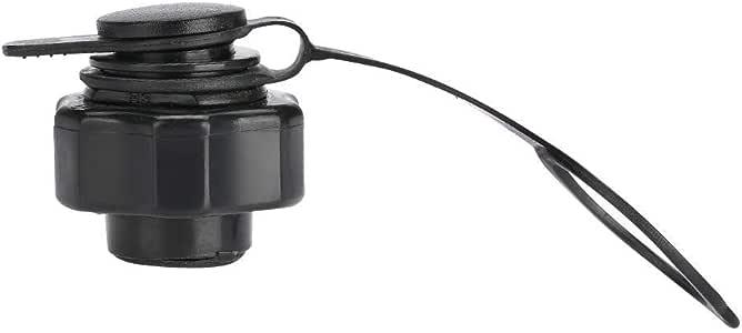 Alomejor 22mm TPU Nozzle Octagonal Valve Black Plastic Inflatable Air Anti-Leak Valve Accessories