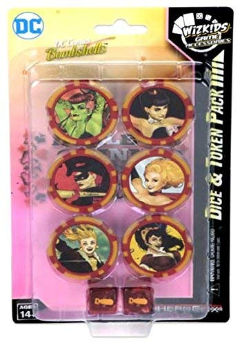 DC HeroClix: Harley Quinn and the Gotham Girls Dice & Token Pack (Card Dc Heroclix Icons)