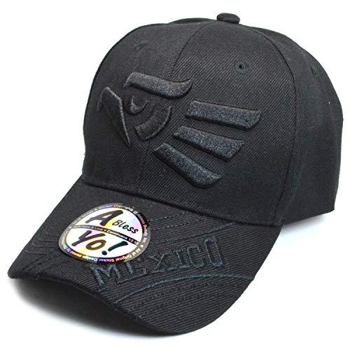 AblessYo Hecho EN Mexico Baseball Cap Eagle Mexican Aquila Golf Sports Cap AYO5002 (Black)