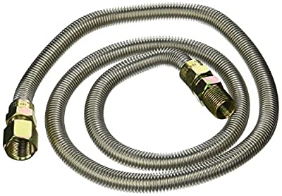 LDR 509 1148SS Flexible Gas Connector, 1/2-Inch FIP x 1/2-Inch MIP x 48-Inch, Stainless Steel Tube