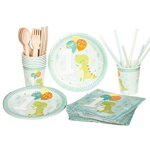 Unicorn-Birthday-Party-Supplies-Set-RiscaWin-Party-Set-Supplies-for-10-Paper-Plates-Paper-CupsPaper-StrawsNapkinsWooden-Forks-Wooden-Knives-Wooden-Spoon-Complete-Party-PackUnicorn