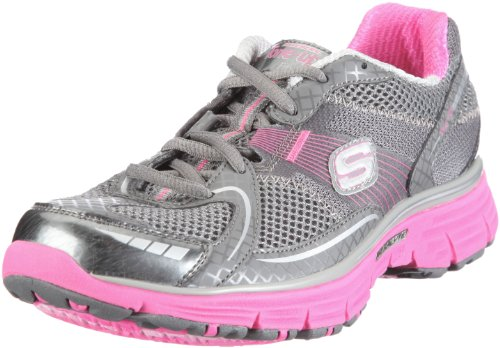 Sketchers - Ready Set Women's Shoe In Charcoal Synthetic/Mesh/Hot Pink Trim, Size: 7.5 B(M) US, Color Charcoal Synthetic/Mesh/Hot Pink Trim