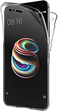 AICEK Funda Xiaomi Mi A1, Transparente Silicona 360°Full Body ...