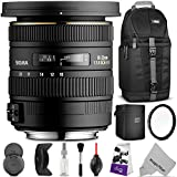 Sigma 10-20mm f/3.5 EX DC HSM ELD SLD Wide-Angle Lens for CANON DSLR Cameras w/ Essential Photo and Travel Bundle