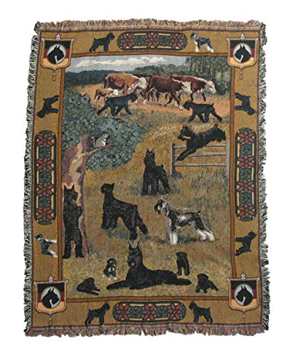 Gone Doggin Giant Schnauzer Blanket Throw #1 – Exclusive Dog Art in Tapestry for Dog Lovers
