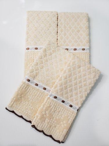 AdonisUSA Set of 4. 100% Cotton Fingertip or Hand Towels. Size 12