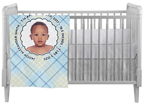 Baby Boy Photo Crib Comforter / Quilt (Personalized) by Baby Milano