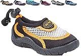 Children's Kids Water Shoes Aqua Socks Beach Pool Yoga Exercise Black/Orange Little Kid 1