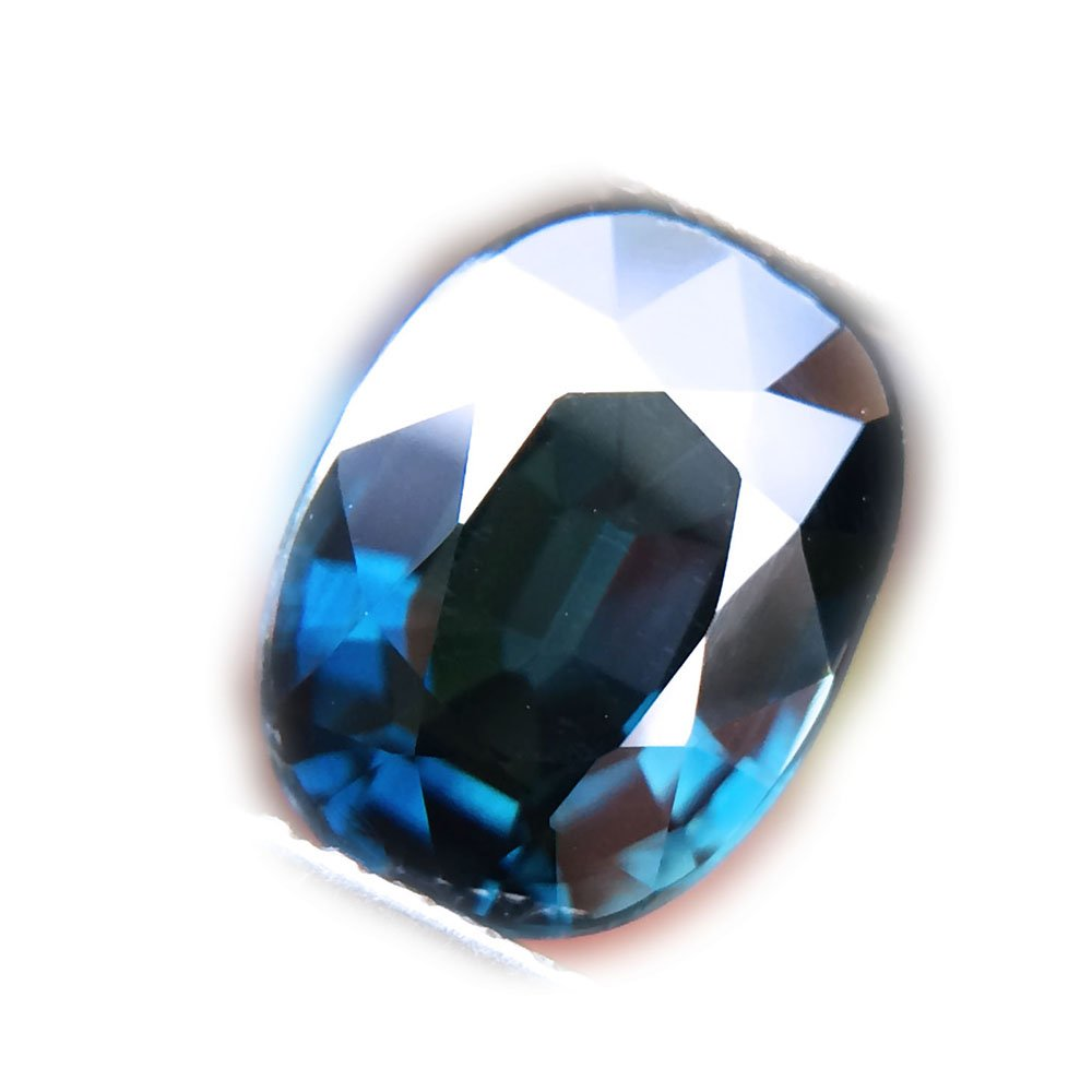 Certified GLC 2.03ct Natural Oval Unheated Blue Sapphire Tanzania #B