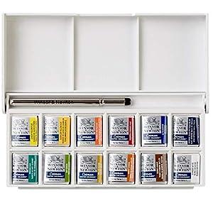 Winsor & Newton Cotman Water Colour Paint, Set of 12, 8ml Tubes