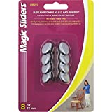 Magic Sliders 08221 22mm (7/8-Inch) Furniture Glide Round Nail On Sliding Disc 8 count