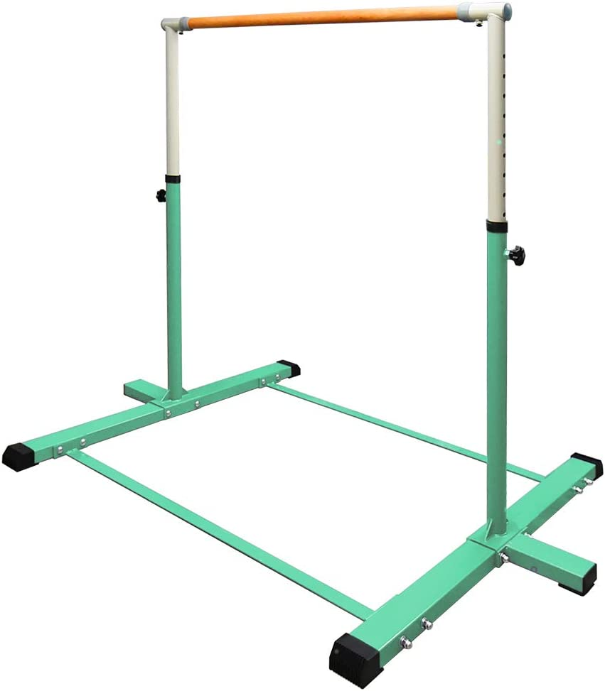 Ralph Gymnastics Kip Bars,3' to 5' Adjustable Height Gymnastics Equipment for Home, Indoor Horizontal Bar for Kids.