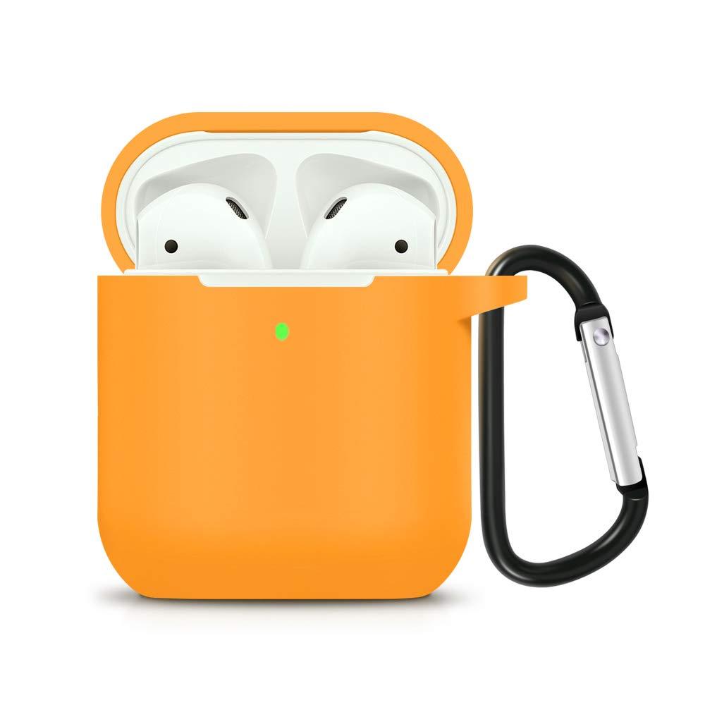 Funda de Silicona para Airpods 2 Antigolpes Color naranja