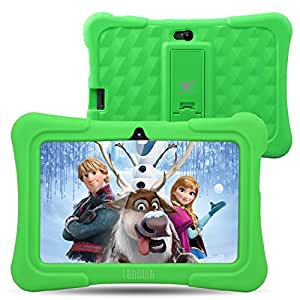 [Upgraded] Dragon Touch Y88X Plus 7 inch Kids Tablet, Kidoz Pre-Installed with Disney Content (more than $80 Value) - Green
