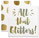 2 Pack Party Napkins (2 Sets of 20) - All That Glitters & Gold Foil Dots