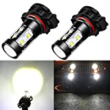 08 tahoe led running lights - Alla Lighting Extremely Super Bright High Power 50W CREE 5202 H16 Type 1 White LED Lights Bulbs for Fog Light Lamps Replacement