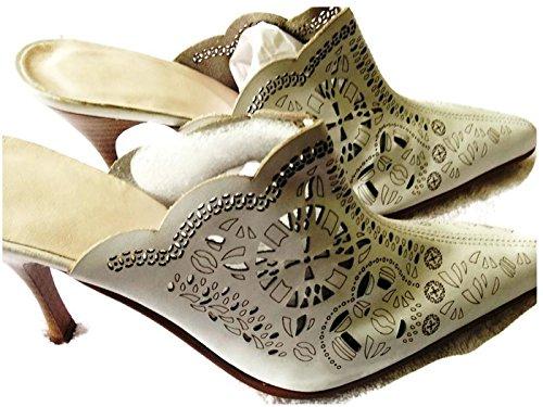 Piel Napa Envejeida Blanco - Sandalias de vestir de Piel para mujer blanco blanco, color blanco, talla 40 EU