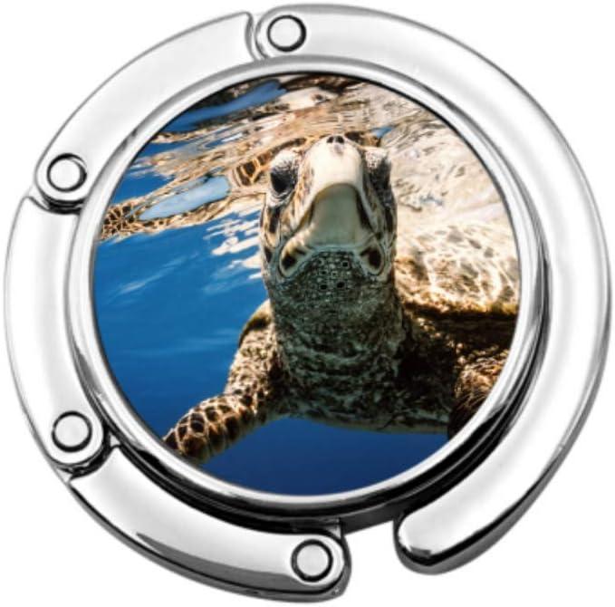 Tortuga de mar Marina en Peligro de extinción Bolsos de Mujer Colgador de Monedero para niña Diseños únicos Colgadores de Mesa de Almacenamiento de sección Plegable para Bolsos