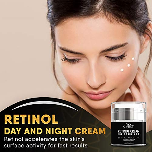 51aIwxgtOSL - Retinol Moisturizer for Face and Eye area | Anti Aging Cream with Hyaluronic Acid, 2.5% Active Retinol and Vitamin E | Reduces Appearance of Wrinkles and Fine lines | Best Day and Night Face Cream