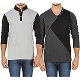 Aurelio Marco Stylish Desgined Multicolor Men T Shirt Combo