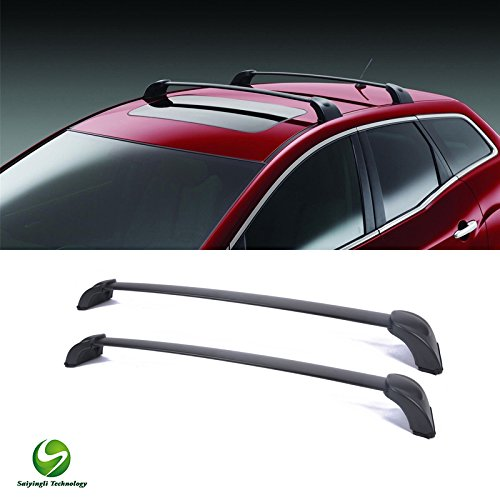 Saiyingli Technology 2pcs Black Aircraft Aluminum Aftermarket Roof Rack Cross Bars & Brackets & Mounting Hardwares Fit 2007-2012 Mazda CX-7