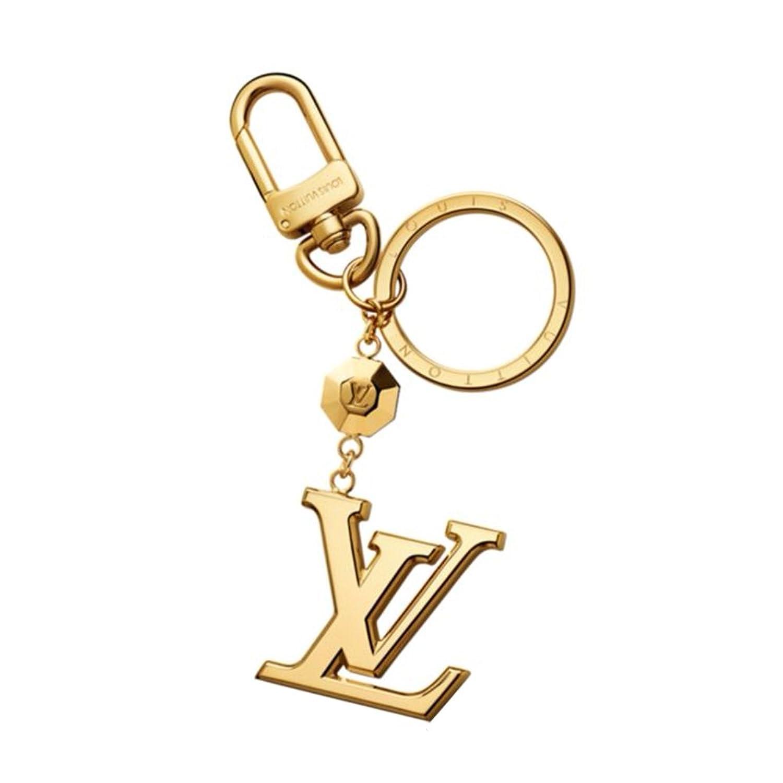 ルイヴィトン LOUIS VUITTON キーリング レディース キーホルダー バッグチャーム ポルト クレLV ファセット ゴールド M65216 [並行輸入品] B014J6INAO