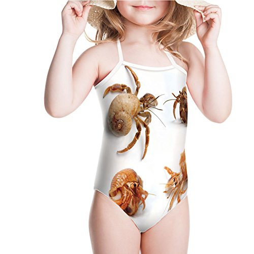 Swimsuit Set of Hermit Crabs from Caribbean Sea Digital for 5-6ages ()