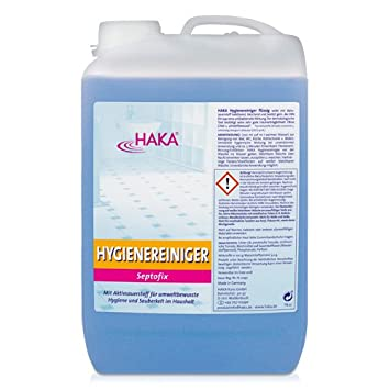 HAKA Hygienereiniger - Septofix, 3 Liter Kanister, 300x Hygiene, 3-l ...