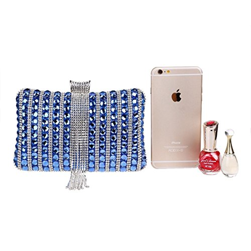 KERVINFENDRIYUN Dresses Evening Clutch Bags Crossbody Purse Handbag Women's Color Blue Diamond Silver Bag Party rXqrT