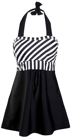 8f0fd13a4b3d89 EUDOLAH Damen zweiteilig Tankini mit Röckchen Shorts Badeanzug Badekleid (M  (EU 34-36