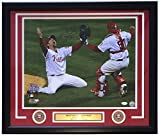 Brad Lidge & Carlos Ruiz Dual Signed & Framed 16x20 Phillies 2008 World Series Photo JSA