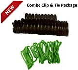 Garden Ties & Garden Clips for Vines, Flowers & Vegetables- 20 Pack Garden Clips - 10 Ft. Garden Ties - Tomato Cages, Pickle Vines, Clematis, Honeysuckle Vines, Other Staked Plants, Saplings - Multi-Purpose Use With Electrical Wires, Hoses and Securing Various Items