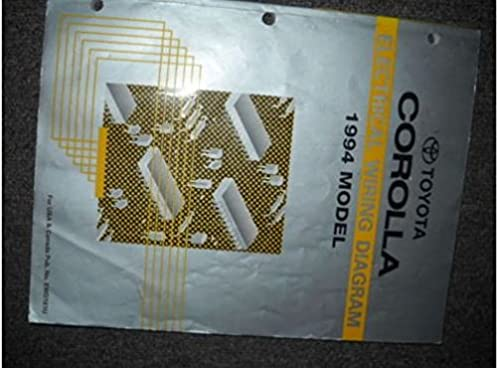 1994 Toyota Corolla Wiring Diagram Manual Schematic Diagrams