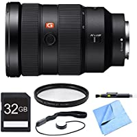 Sony FE 24-70mm F2.8 GM Lens, Filter, and Card Bundle - Includes Lens, 82mm Multicoated UV Protective Filter, 32GB SDHC Memory Card, Lens Cap Keeper, and LCD/Lens Cleaning Pen and Microfiber Cloth