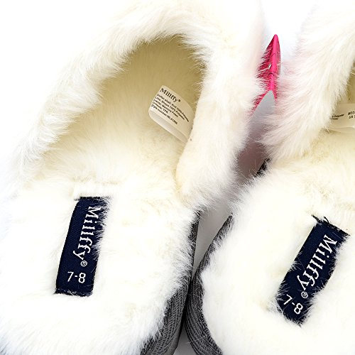 Millffy Rabbit Nordic eva Faux Gray Suede Slippers Women's Indoor Style Memory Foam Hair Trim Fur Slipper XOOrxwBf