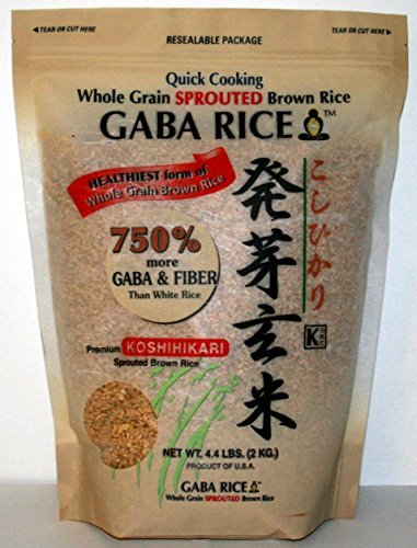n Rice 2.0kg (4.4 LB) bag by Whole Grain Sprounted Brown Rice (Rice 4.4 Lb Bag)