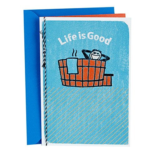 Hallmark Father's Day Greeting Card (Life is Good, Soak It up)