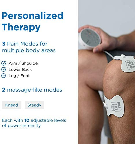 OMRON Pocket Pain Pro TENS Unit Muscle Stimulator, Simulated Massage Therapy for Lower Back, Arm, Foot, Shoulder and Arthritis Pain, Drug-Free Pain Relief (PM400) 51aJ 2BPLLJLL