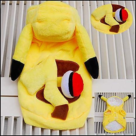 Perros Disfraz Pikachu, Pokémon: Amazon.es: Productos para mascotas
