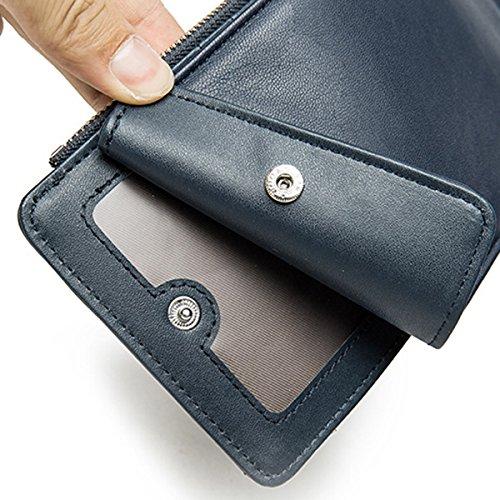 Classic Business Multicarte Noir Carte Monnaie Cuir Café Long Loisir PU Solide TENGGO Vintage Wallet Porte qw10E