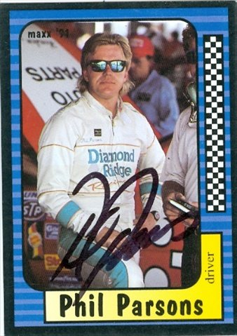 Autograph Warehouse 32904 Phil Parsons Autographed Trading Card Auto Racing Maxx 1991 No. 61 from Autograph Warehouse