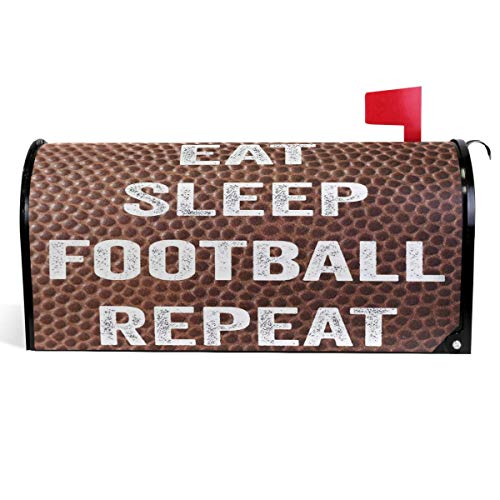 KATE HOLT Vintage American Football Mailbox Cover Funny Quote Saying Mailbox Covers Magnetic Mailbox Wraps Post Letter Box Cover Large Size 25.5