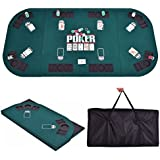 Giantex Folding Poker Table Top Portable For 8 Casino Player Foldable Poker  Table Top W/