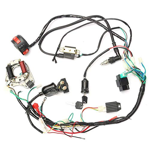 (Wire Harness, CDI Wire Harness Assembly Wiring Set for 50cc-125cc Chinese ATV Electric Quad)