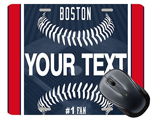 BRGiftShop Customize Your Own Baseball Team Boston Square Mouse Pad ()