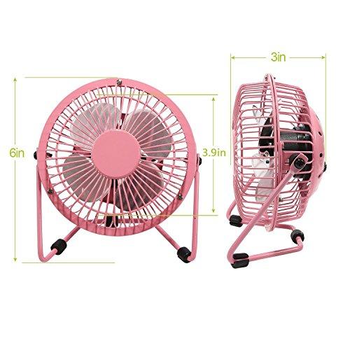 Wetietir Portable Desktop Mini USB Fan for Office Home - Pink by Wetietir